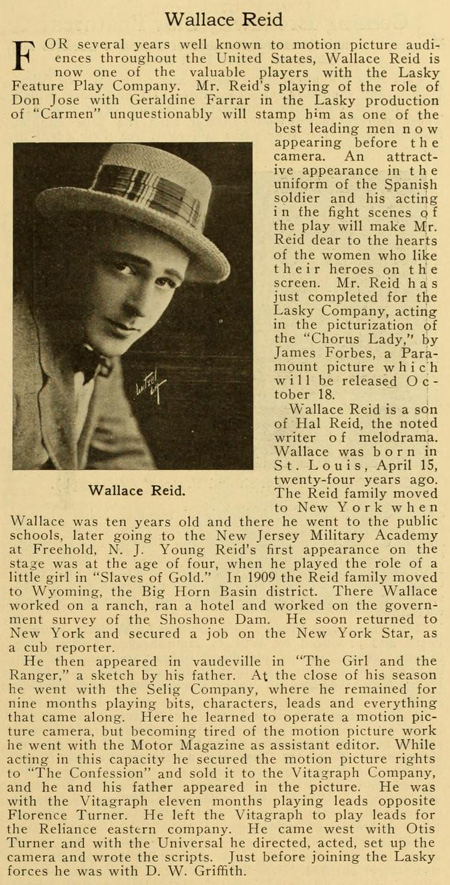 Casting Wallace Reid always helps.