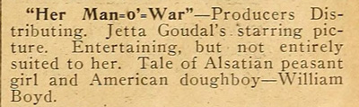 Vintage review snippet.