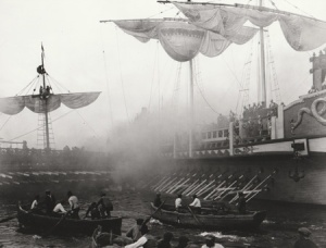 The chaotic ship-to-ship battle. (image courtesy of Christopher Bird)
