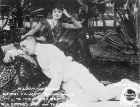 "Theda Bara in ""A Fool There Was"""