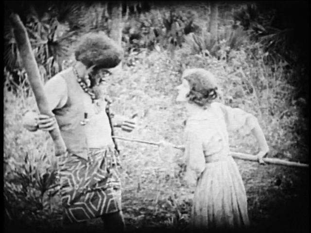 A spear-wielding Carol Dempster.
