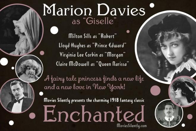 Enchanted recast as a 1918 silent film