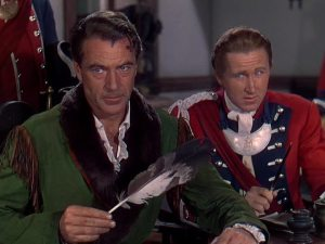 Gary Cooper and Lloyd Bridges react to the script.