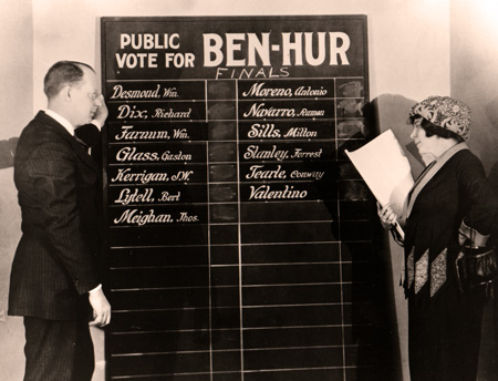 June Mathis considers the options to play Judah Ben-Hur. (image courtesy of Christopher Bird)