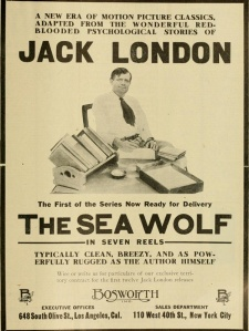 "An ad for the 1913 American feature film ""The Sea Wolf"" Even at sound speed, the picture would run 70 minutes, a feature by anyone's standards."