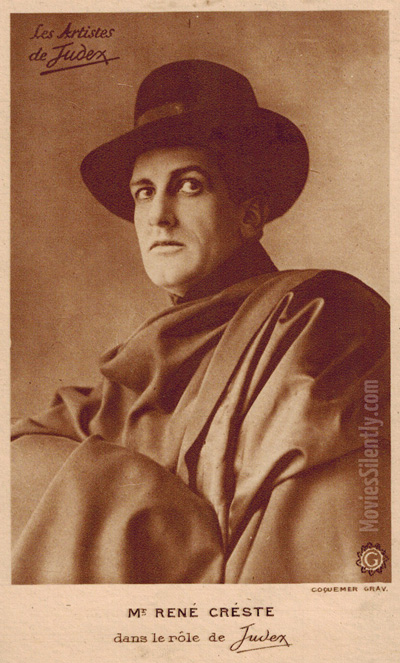 But who is this mysterious Judex? And does he always wear this amazing cape? (Vintage postcard from my collection)