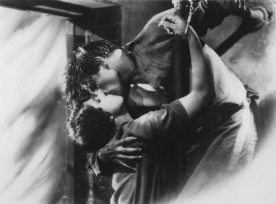 Lina Basquette and George Duryea in The Godless Girl.