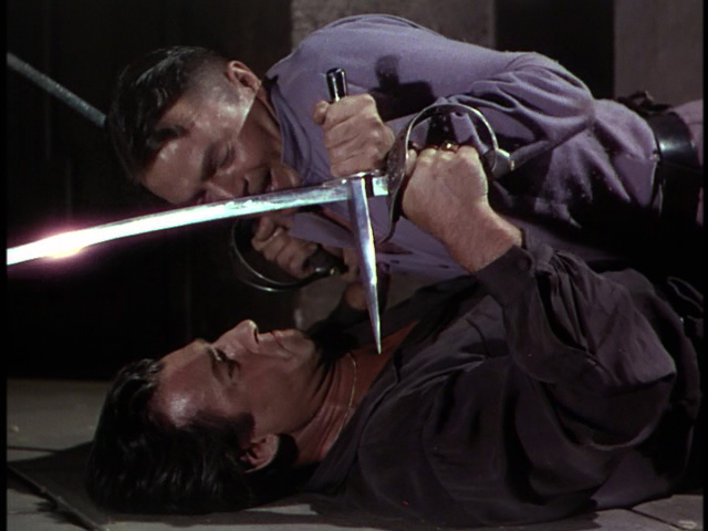 tewart Granger and James Mason get all stabby.
