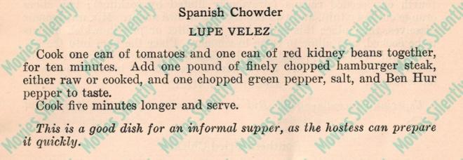 Lupe-Velez-Spanish-Chowder