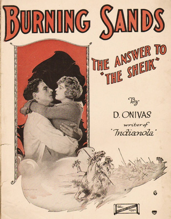 Marketing material for Burning Sands featured Miss Hawley prominently. Here is the tie-in sheet music.