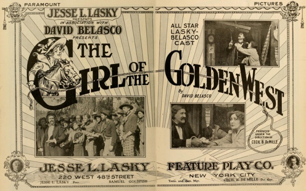 Magazine ad. Notice the relative placement of the DeMille and Belasco names.