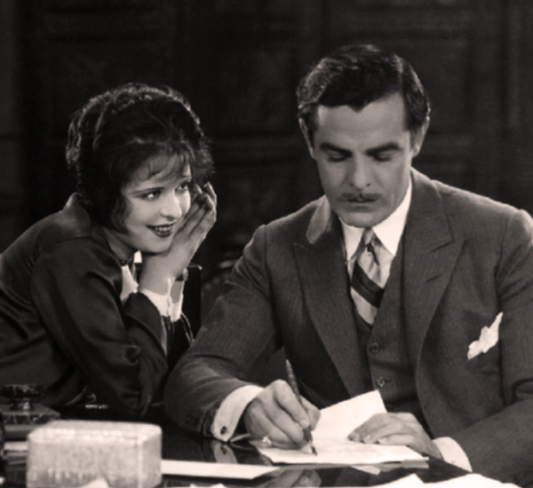 "A disinterested Moreno with Clara Bow in ""IT"""
