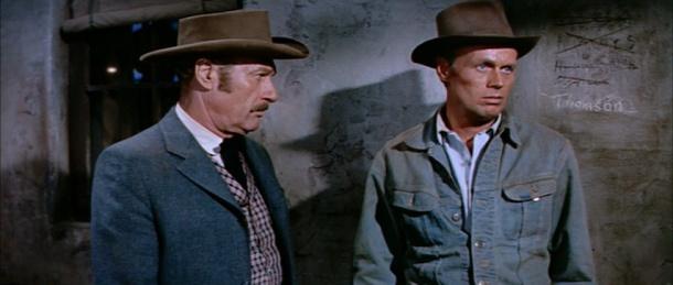 Richard Arlen with Richard Widmark in Warlock.