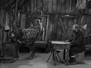 Did you know, audience, that Big Jim thinks the Tramp is a chicken? Well, he does.