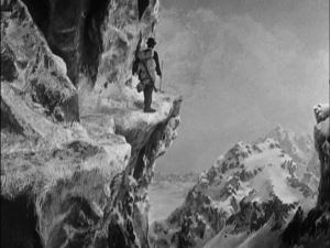 Matte shots make the film seem larger and more perilous.