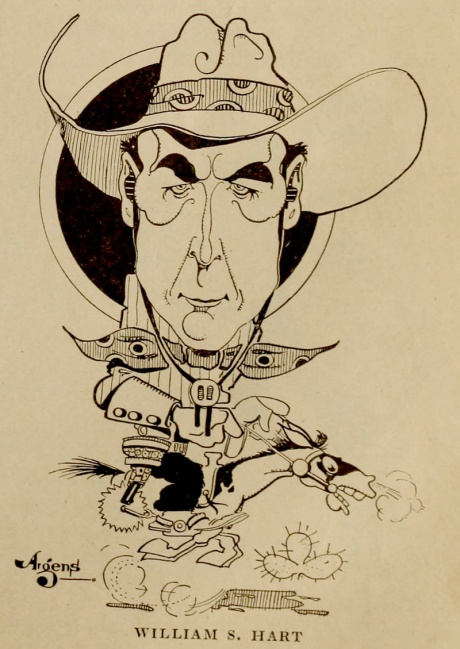 Hart in a vintage caricature.