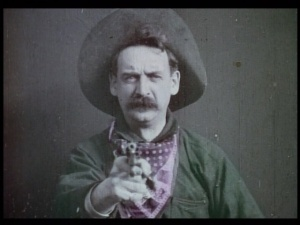 """The Great Train Robbery"" featured color accents during important scenes."