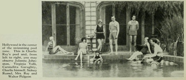 A young Mr. Pidgeon cavorts with the Hollywood crowd in 1926.