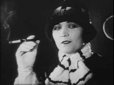 Pola Negri and her offending cigarette.
