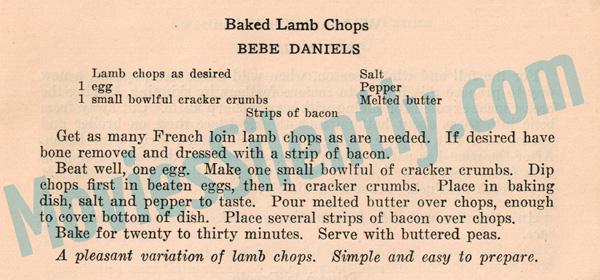 Bebe-Daniels-Baked-Lamb-Chop