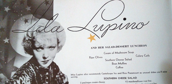 Does Ida Lupino have the key to the perfect cheese salad?