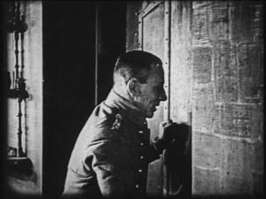 "Curses! Erich von Stroheim has been thwarted by this thing the Canadians call a ""door"""