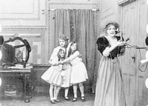 Mary Pickford plays one of the kids in peril.