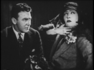 """Moore with Gloria Swanson in """"Manhandled"""""""