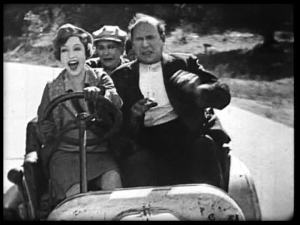 Bessie at the wheel.