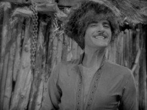 John Gilbert rehearses for his Colgate commercial.