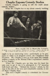 "The backstage angle of the film was flogged heavily, as we can see from this ""Motography"" clipping."