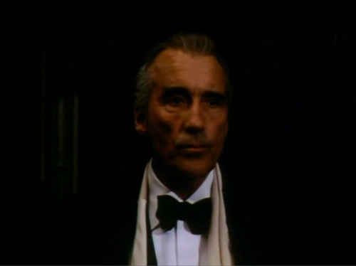 Christopher Lee's expression perfectly captures my feelings toward this film.