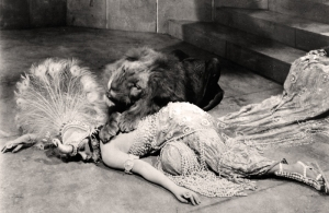 "Gloria Swanson's lion scene in ""Male and Female"" was much more DeMille's speed."