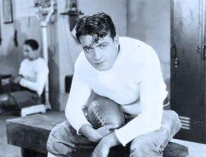 """Richard Barthelmess in """"The Drop Kick"""" a college football flick currently available on DVD."""