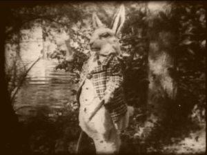 The White Rabbit in full regalia.