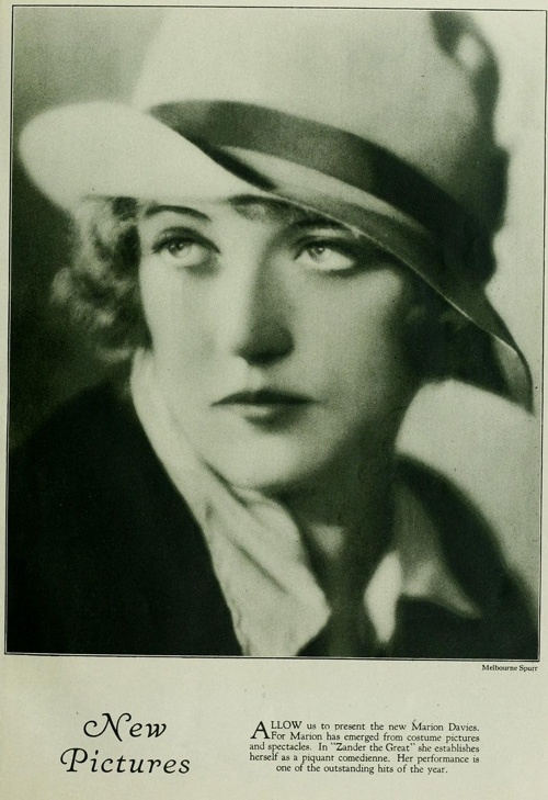A sophisticated Davies in an ad for the film.