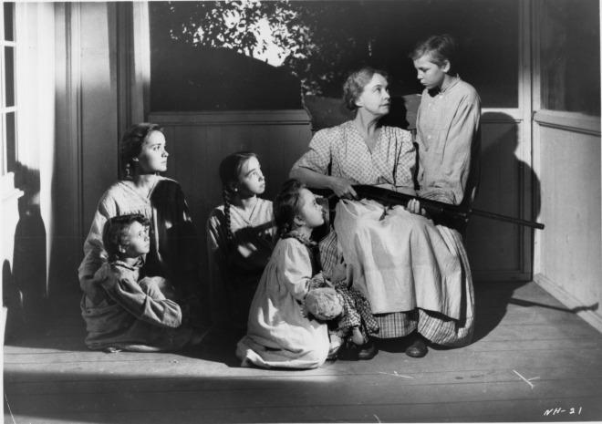 Lillian Gish and her brood
