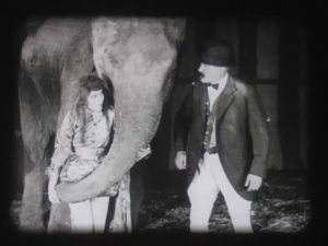 Hey, we finally found a silent movie villain with a top hat and a mustache! Granted, he is a circus ringmaster...