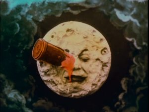"The iconic scene from ""A Trip to the Moon"""