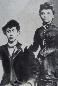 The very young Boris and Bessie Thomashefsky