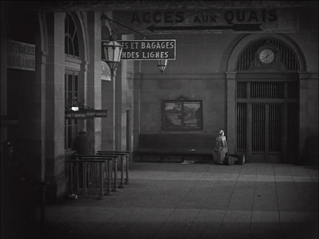 She waits alone