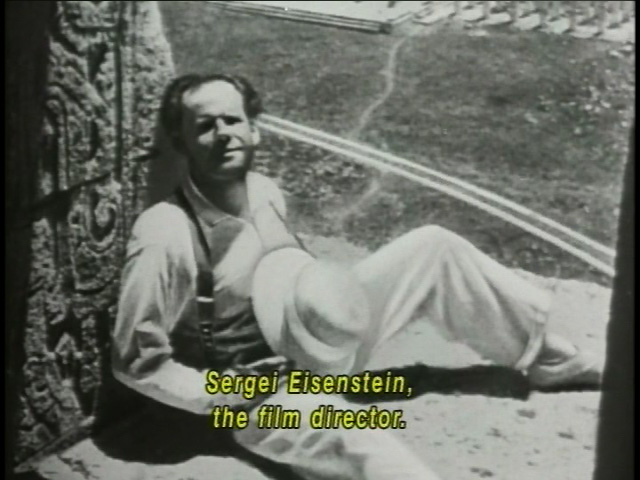 Sergei Eisenstein at work