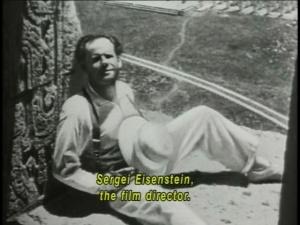 Sergei Eisenstein at work