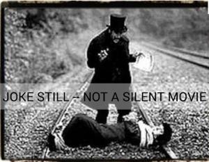 fake silent movie still