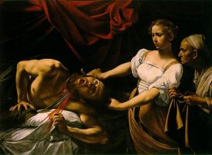 """Caravaggio. """"OMG, this is, like, so nasty. I mean, like, he has blood and stuff."""""""