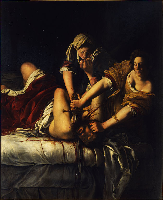 "Lea, honey? THIS is how it's done! "" Judith Slaying Holofernes"" by Artemisia Gentileschi"