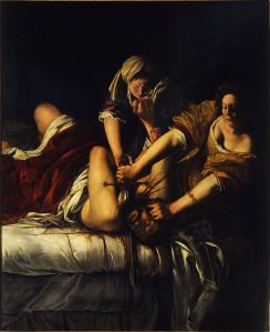 """Lea, honey? THIS is how it's done! """" Judith Slaying Holofernes"""" by Artemisia Gentileschi"""